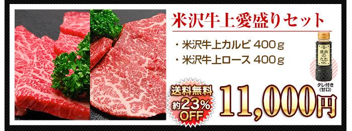 米沢牛通販の焼肉用米沢牛 上愛盛りセットのバナーです。